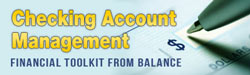 checking account management financial toolkit from balance