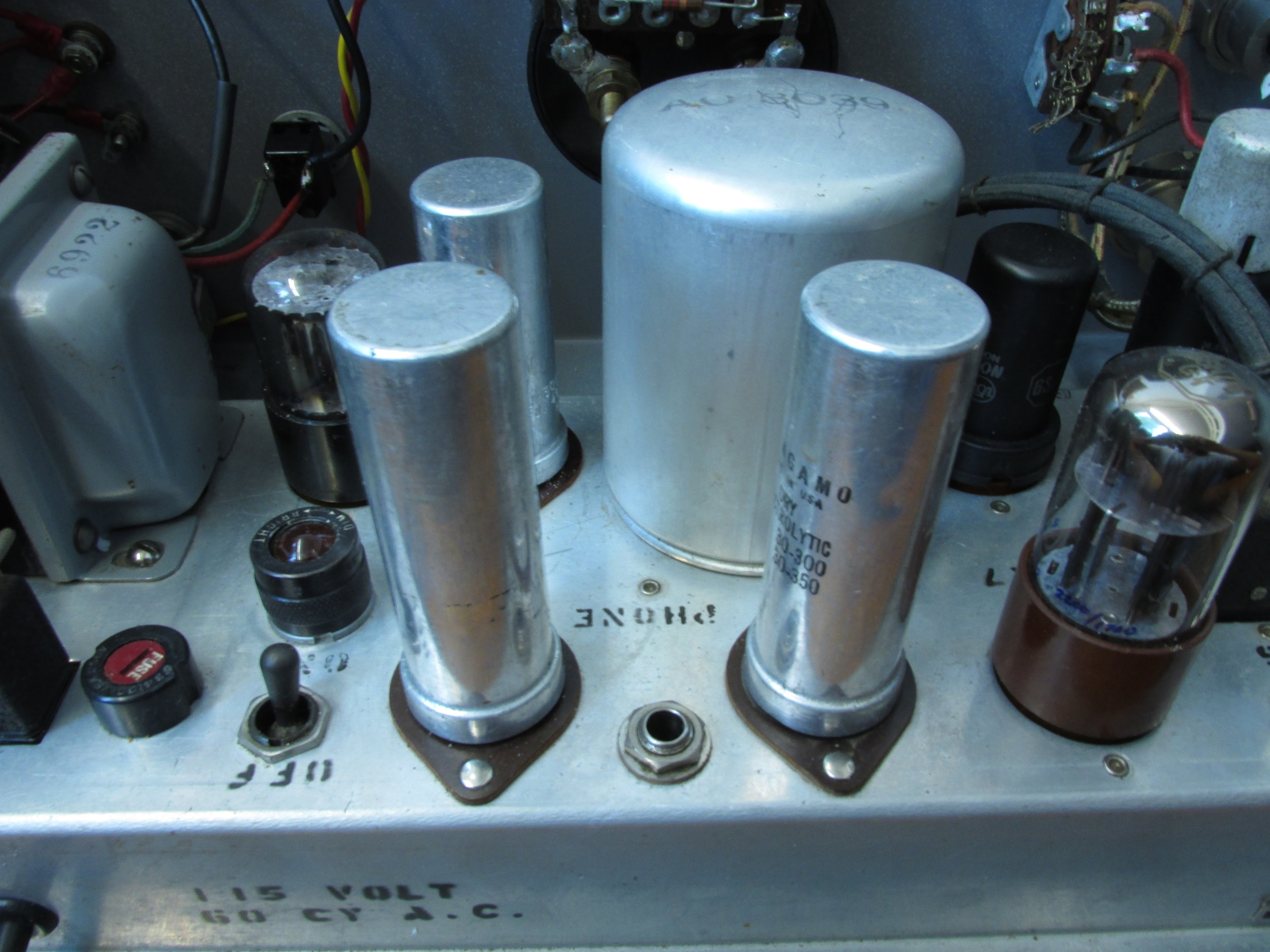 We wanted to lower the overall noise of the preamp, the old capacitors weren't really up to specs anymore.