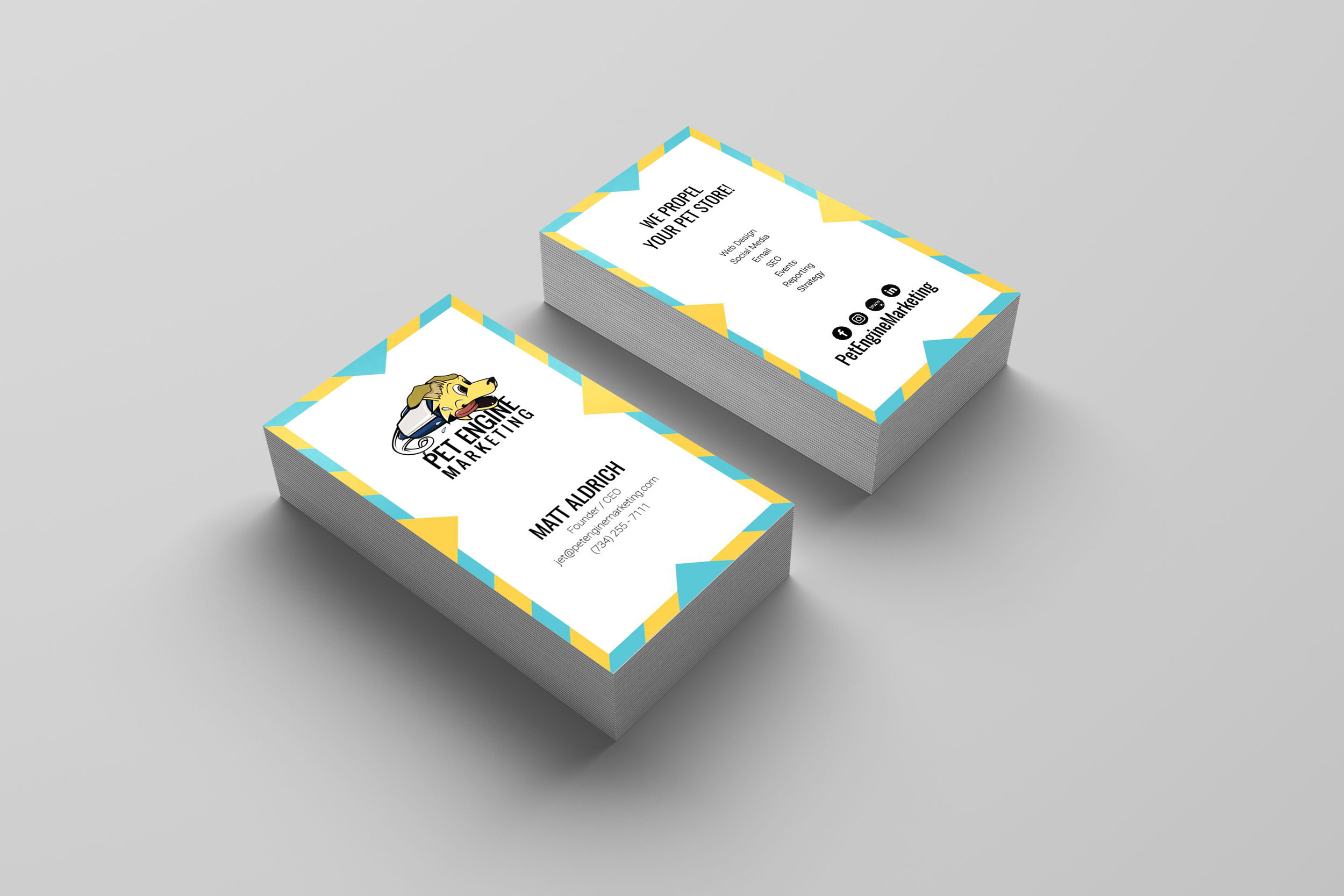 Pet Engine Marketing Business Cards