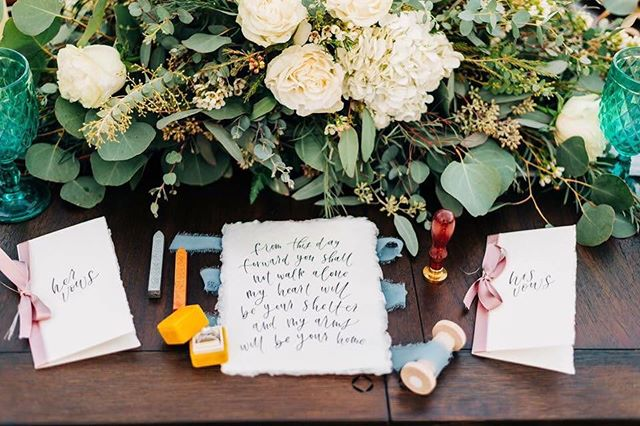 Still swooning - and I can't tell you how many wedding vows I've seen on random shreds of notebook paper or typed on cell phones.. check out our partner for these gorgeous classy vow folders @dowritebyme @honeysuckleandhome @heyitsohsopretty #calligraphy #wedding #hisvows #hervows #details #weddingphotographer #jonesborophotographer