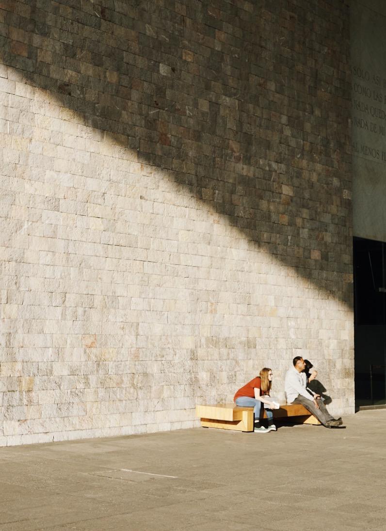 Resting at Museo Nacional de Antropologia