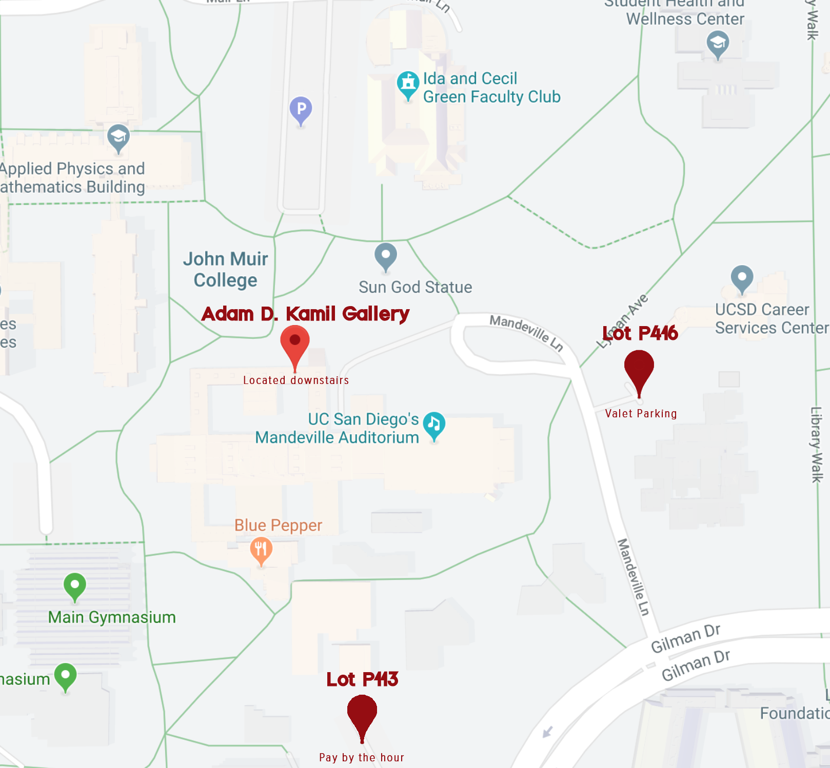 Directions and Parking - Parking on campuses limited and requires daily or hourly permits that may be purchased. Other suggestions include parking off campus and taking a Lyft or the 201 MTS Superloop bus route.