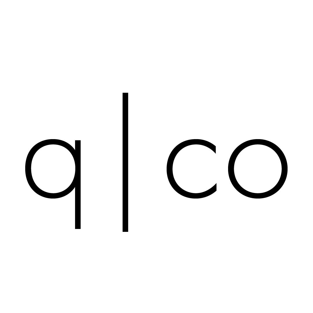 q|co logo square white background