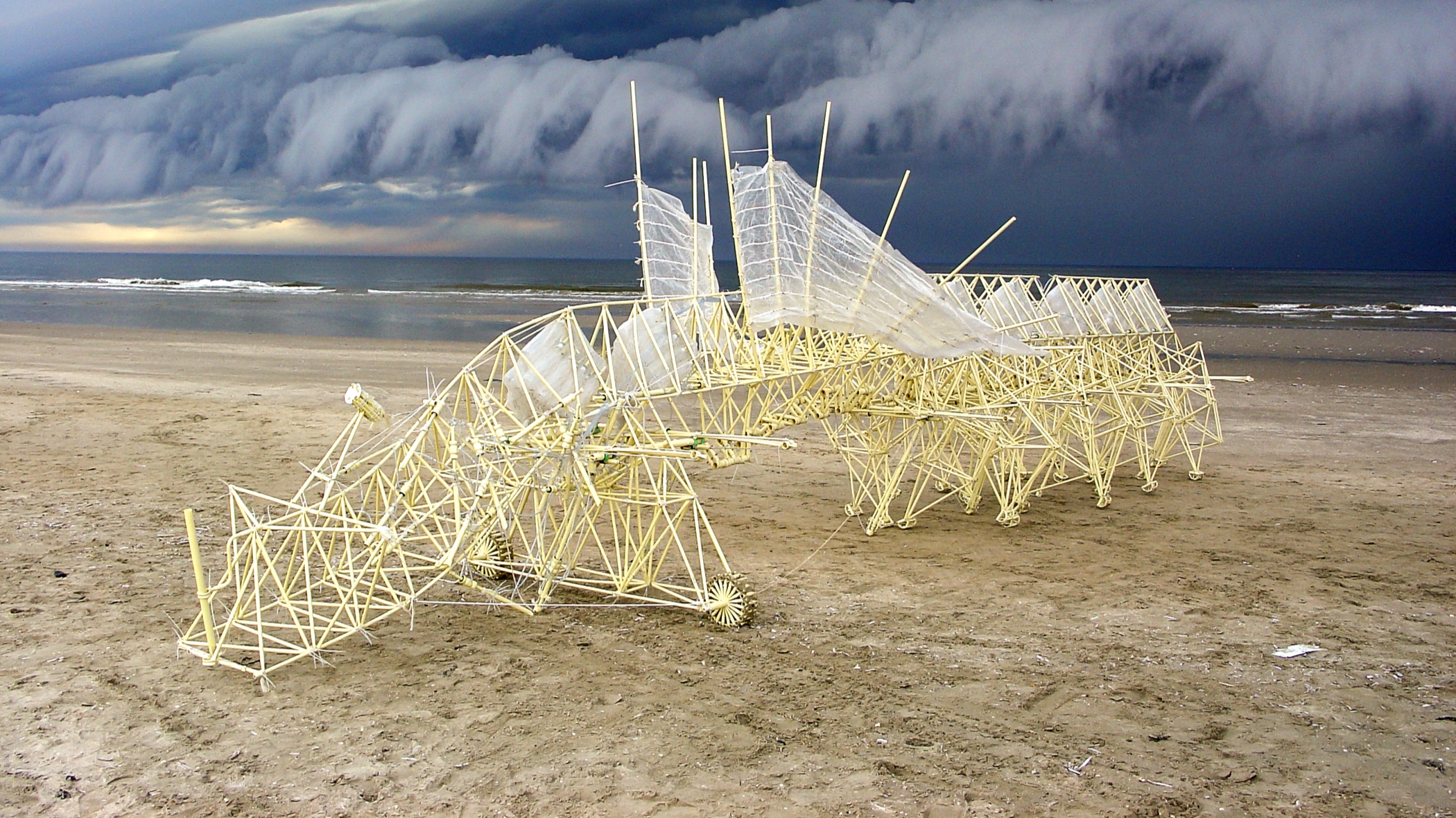 the fascinating Strandbeests by Theo Jansen