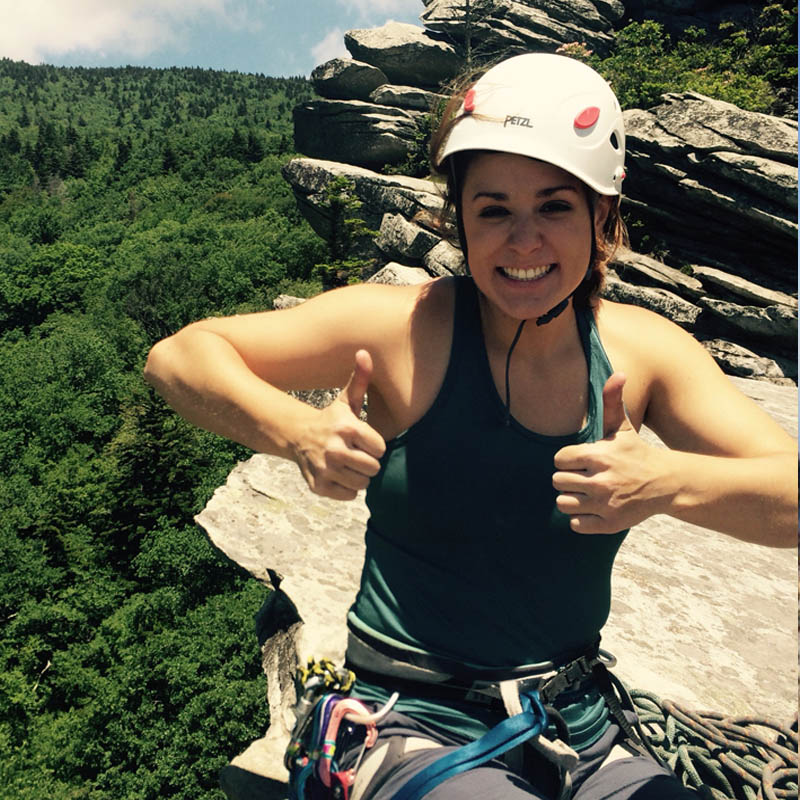 Heather Stuckless - Chapter Co-Chair - Heather grew up in Camden, South Carolina, and spent many weekends in the mountains of North Carolina hiking with her dad. But it wasn't until college where she took a class on rock climbing at the University of South Carolina that she fell in love with the sport and all that the mountains have to offer. In 2014 she graduated from USC and has since spent almost every weekend learning and climbing in North Carolina. Heather has a deep love for multipitch traditional climbing and the adventures that go along with it.