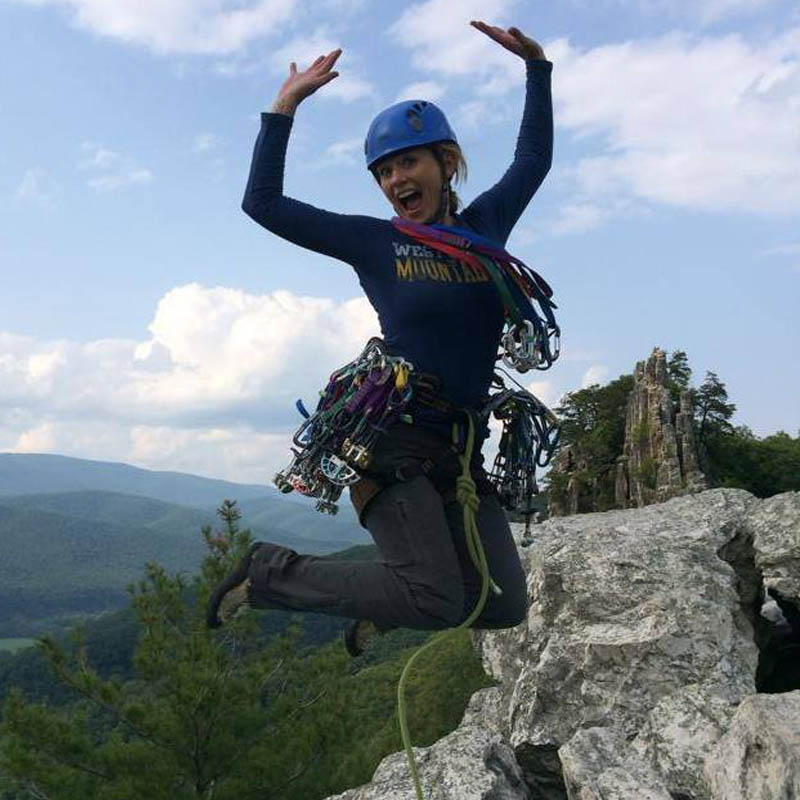 Jennifer Kane - Chapter Co-Chair - Jennifer is Chapter Chair in Columbia, South Carolina. Jen has been climbing for nearly ten years. She is a certified Single Pitch Instructor with the American Mountain Guides Association. She teaches the rock climbing course at University of South Carolina. She's also a doctor of optometry and single mom of a six-year old crusher. Jen loves long multipitch traditional and alpine climbs with big exposure, waterfall ice and desert towers. Her climbing dream came true when she completed Matthes Crest in Tuolumne last fall.