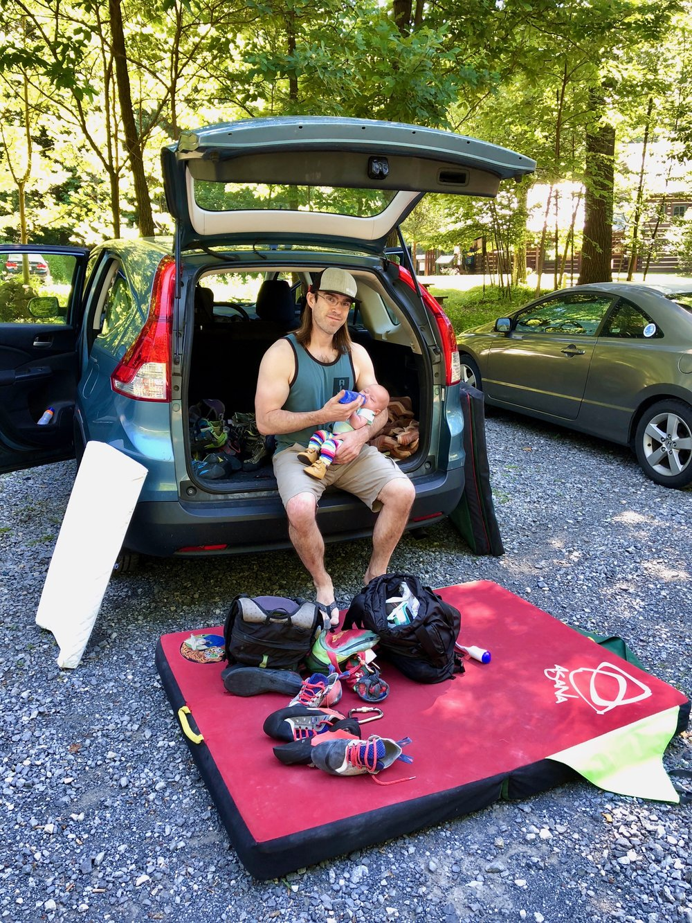 Robin Close - Chapter Chair - Growing up in Columbia, MD, where he continues to live and teach, Robin Close spent much of his childhood dreaming of big mountains and being a climber. While he still dreams of mountains and loves to take long walks among them at every opportunity, most of his actual climbing days are spent on tiny boulders. He loves lowball traverses and awkward eliminates, and has an unusual obsession with featureless slabs. Robin loves climbing for the physical outlet and focus it provides him, but even more for the community he has found, and he is grateful for any opportunity to help others find the same connection that he has.