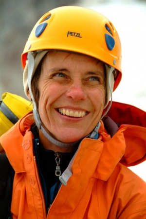 Diane Kerns - Chapter Co-Chair - Diane has been climbing since 1989 and been a member of the AAC since 1996. Diane was the first American woman to cross Greenland's icecap in 1999 and she and her husband Arthur made the first ascent of the Mohawk in the Schweizerland area of the east coast of Greenland in 2001. Diane has summited Rainier, Elbrus, Gunnsbjornfeld , Dome and Cone, the three highest peaks in Greenland. She has also made attempts on Denali, Ama Dablam, Baruntse, Illimani, Mt Forel, and Rytterknaegen and climbed in the Alps, the Adamants and the Pickett range. Diane is a co-owner of the Seneca Rocks Climbing School and the Gendarme at Seneca Rocks W.V.