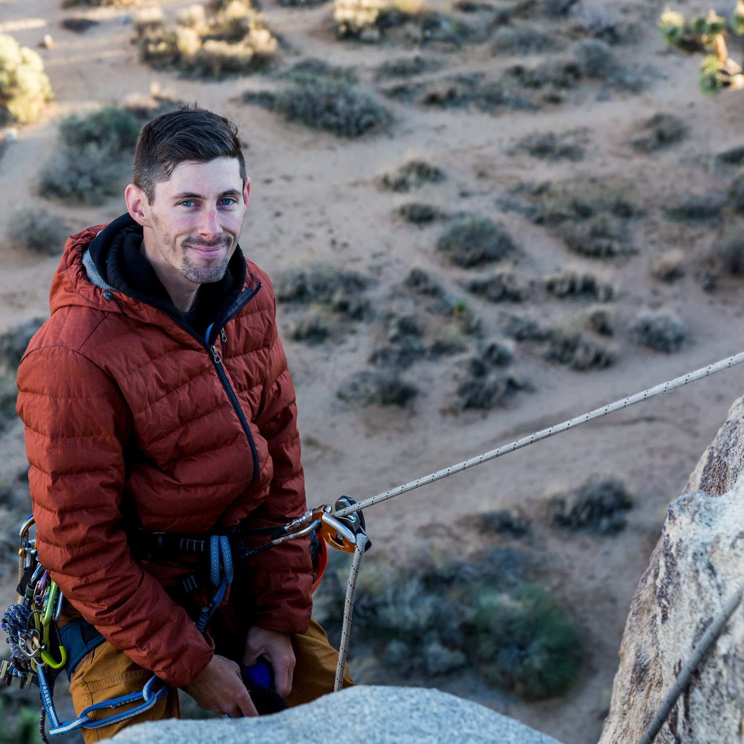 Tyler Dandurand -Education Co-Director - In August 2015 Tyler reluctantly went to a climbing gym for the first time, and never looked back. Since that day he has fervently worked on developing his skills as a climber and fine-tuning his systems to be a proficient partner and guide.His favorite place to climb is Red Rock Canyon National Park in Nevada where he's spent countless hours on some of the best sandstone around. When he isn't climbing, he's spending time with his daughter, Jordan, working full time at a hearing aid clinic in San Diego, or thinking about climbing. Tyler loves introducing people to the world of climbing and is eager to share his knowledge and passion for it with others.