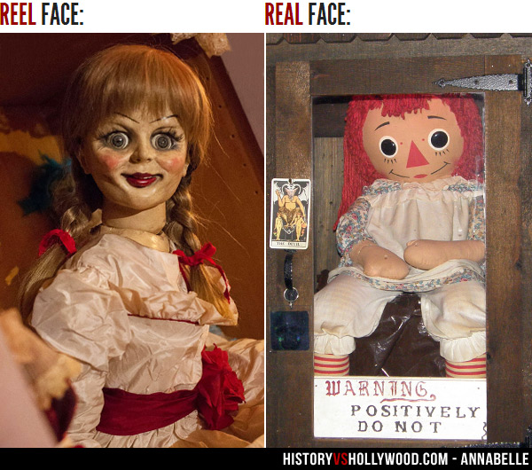 Movie Annabelle Vs. Real Annabelle