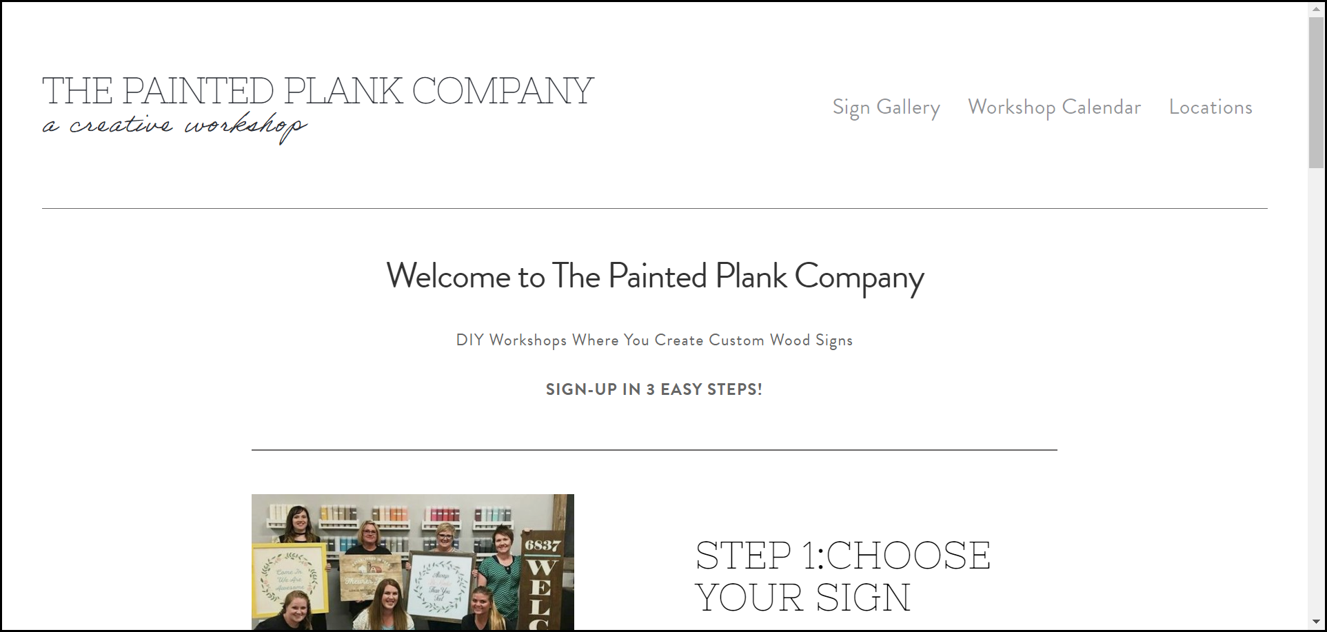 The Painted Plank - CRAFT WORKSHOPS