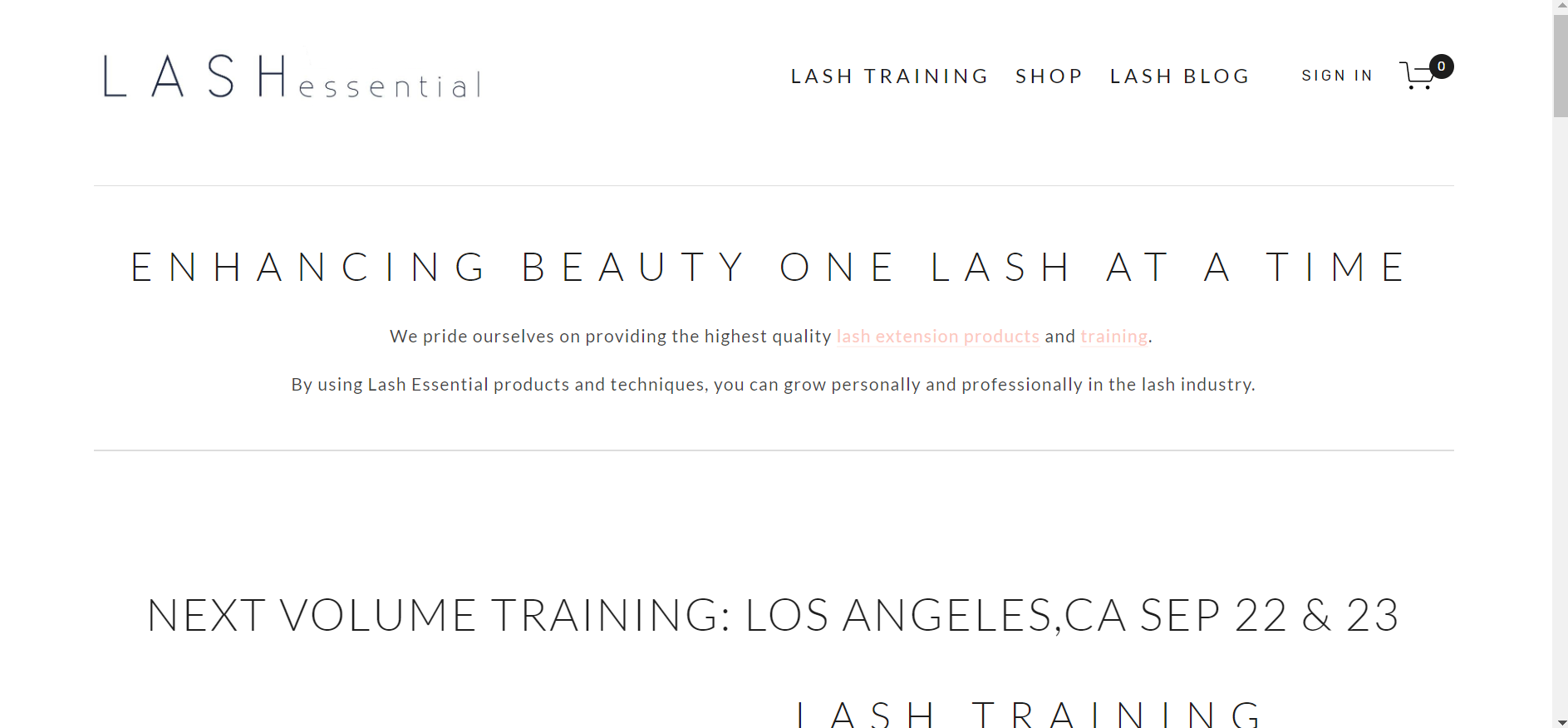 Lash Essential - E-COMMERCE