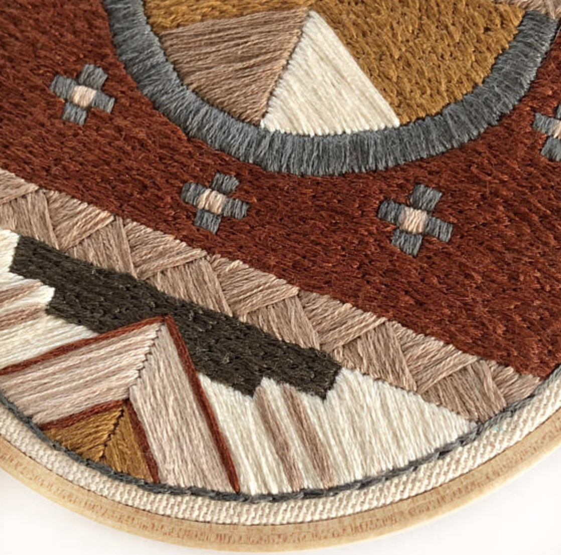 This detail shot from  Sol y Mano  shows off the quality work, materials and texture.