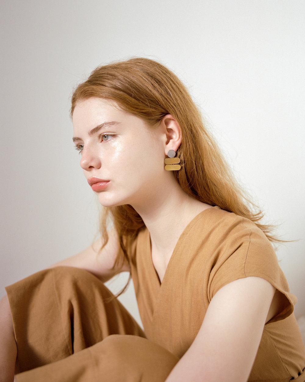 Jewelry: Claire Green, Garment: Lauren Winter