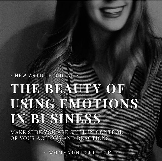 Anyone can spit facts, but can anyone spit authenticity ? Why using your emotions in business can actually make it more successful and help you gain better, more real, connections.  Agree? • Link to my latestest article for @womenontopp Magazine is attached in bio. Xo ♥