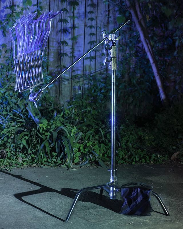 """Martyna Szczesna's 2019 cast resin and steel """"ARRAYGOBO003""""  stands in the back of the yard like a sentinel, or a beacon. The sculpture pulls in viewers and light, reflecting something different, something uncanny from the input.  @martynaszcz #MartynaSzczesna #moonmist #groundasin"""