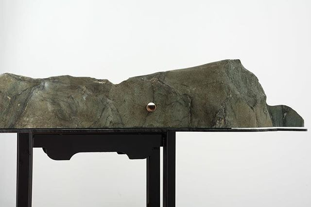 """Install views of Kylie White's Model of an Earth Fastener on the San Andreas Fault, from her 2019 exhibition at Moskowitz Bayse in Los Angeles.  In an article written for DISSOLVE SF, Kylie writes: """"There are many ways in which the artist and the geologist are similar. We are both interested in the material phenomena of this planet. We both depend on relative measurement, and the relationship of one form to another. Beyond that, it is in finally understanding deep time, a geologist's concept, that an artist can legitimately comprehend scale, our most fundamental tool. To solicit an unconformity, to seek the thing that is not there for its insights into what is there, is befitting the faculties of artists and geologists alike"""". Find a new sculpture of Kylie's at Moonmist this August.  @_kylie__white_ @moskowitzbayse @dissolvemagazine  #KylieWhite #Moonmist #TouchingDownLightly"""