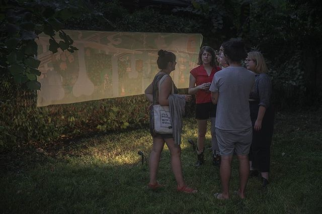"Thank you to everyone who made it past road closures and rain to the opening for ""Touching Down Lightly"". For those characteristically challenging qualities of Houston, you are some of its strengths. To our friendship in this swamp--🥂 I will miss eating Austin Weber's (@myoptic.52 ) homemade bread in the backyard."