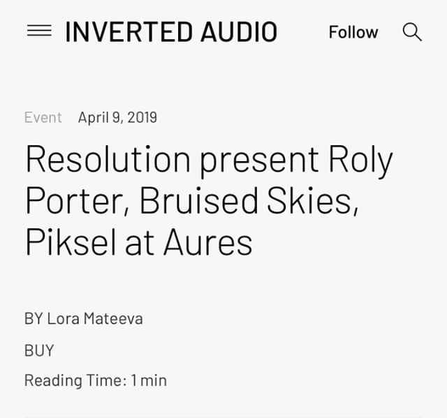 Inverted Audio has featured our upcoming Resolution x Amoenus event with Roly Porter, Bruised Skies and Piksel this Sunday.⁣ ⁣ Tickets running low, get yours whilst still available, link in bio.⁣ .⁣ .⁣ .⁣ .⁣ .⁣ .⁣ .⁣ .⁣ .⁣ .⁣ .⁣ .⁣ .⁣ .⁣ .⁣ .⁣ .⁣ .⁣ .⁣ .⁣ #resolution #resolutionevents #music #livemusic #surroundsound #audiodiffusion #art #electronicmusic #goldsmiths #multichannel #experimental #immersive #projection #techno #idm #diy #diymusic #drone #ambient #glitch #digital #projectionmapping #modular #modularsynths #dark #liveelectronicmusic #noise #residentadvisor #mixmag #boilerroom