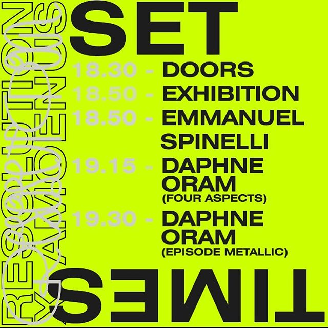 Set times for tonight, doors at 18.30. Final tickets are online, we expect to sell out in advance so grab one now to avoid disappointment. .⁣ .⁣ .⁣ .⁣ .⁣ .⁣ .⁣ .⁣ .⁣ .⁣ .⁣ .⁣ .⁣ .⁣ .⁣ .⁣ .⁣ .⁣ .⁣ .⁣ .⁣ #resolution #resolutionevents #music #livemusic #surroundsound #audiodiffusion #art #electronicmusic #goldsmiths #multichannel #experimental #immersive #projection #techno #idm #diy #diymusic #drone #ambient #glitch #digital #projectionmapping #modular #modularsynths #dark #liveelectronicmusic #noise #residentadvisor #mixmag #boilerroom