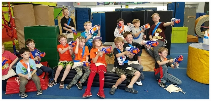 Nerf Battle Party - Bring your friends and we'll provide the Nerf guns, ammunition and safety glasses. Our staff will plan and manage the Nerf Battles . Games include Capture the Flag and Treasure Chest! For ages 8 and upFormat (2 hours)90 min. Nerf Battles run by staff30 min. of celebration with your cake, food, presents, etc. (We provide table and chairs.)Contact Hannah to Schedule: hannah@flipsideacademy.net or 708-853-7166