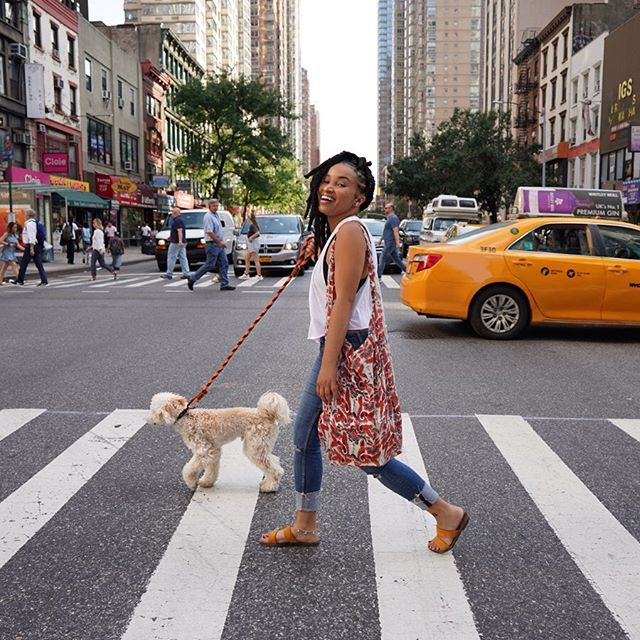 IN A NEW YORK MINUTE! 🚕💥 My boyfriend and I were going back and fourth a couple weeks ago about rescuing a pup. I have mixed feelings about having a pet in NYC (especially one as active as a dog). SO until then, I'll just enjoy my time with @bennybokchoy #DogAunt 🐶❤️ - Benny is rocking his new Inferno Leash from @barky_paws! It's a heavy duty and super stylish rope leash that was hand made in the USA. Thanks @barky_paws for the awesome gift! - Shot by @stellamor33