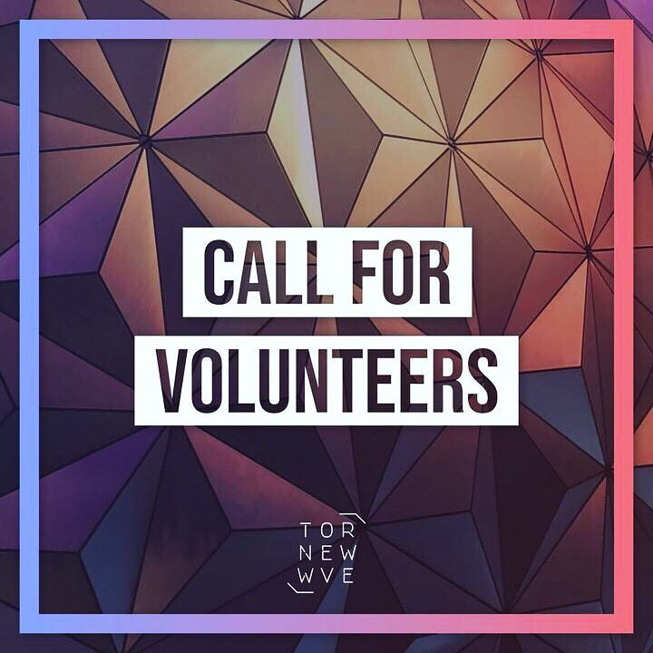 Call for Volunteers for TNW 2019