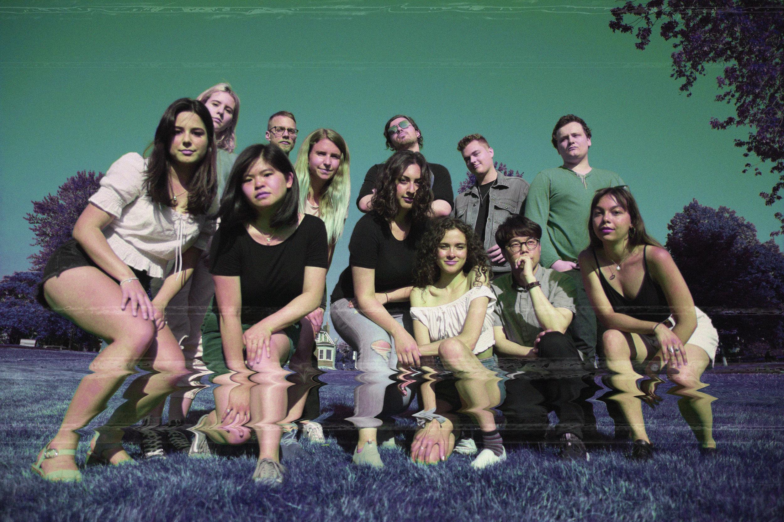 From Left to Right: Elena, Natalie, Rachel, Anthony, Miriam, Golsa, Sina, Yasmin, Nick, John, Tom, Julia
