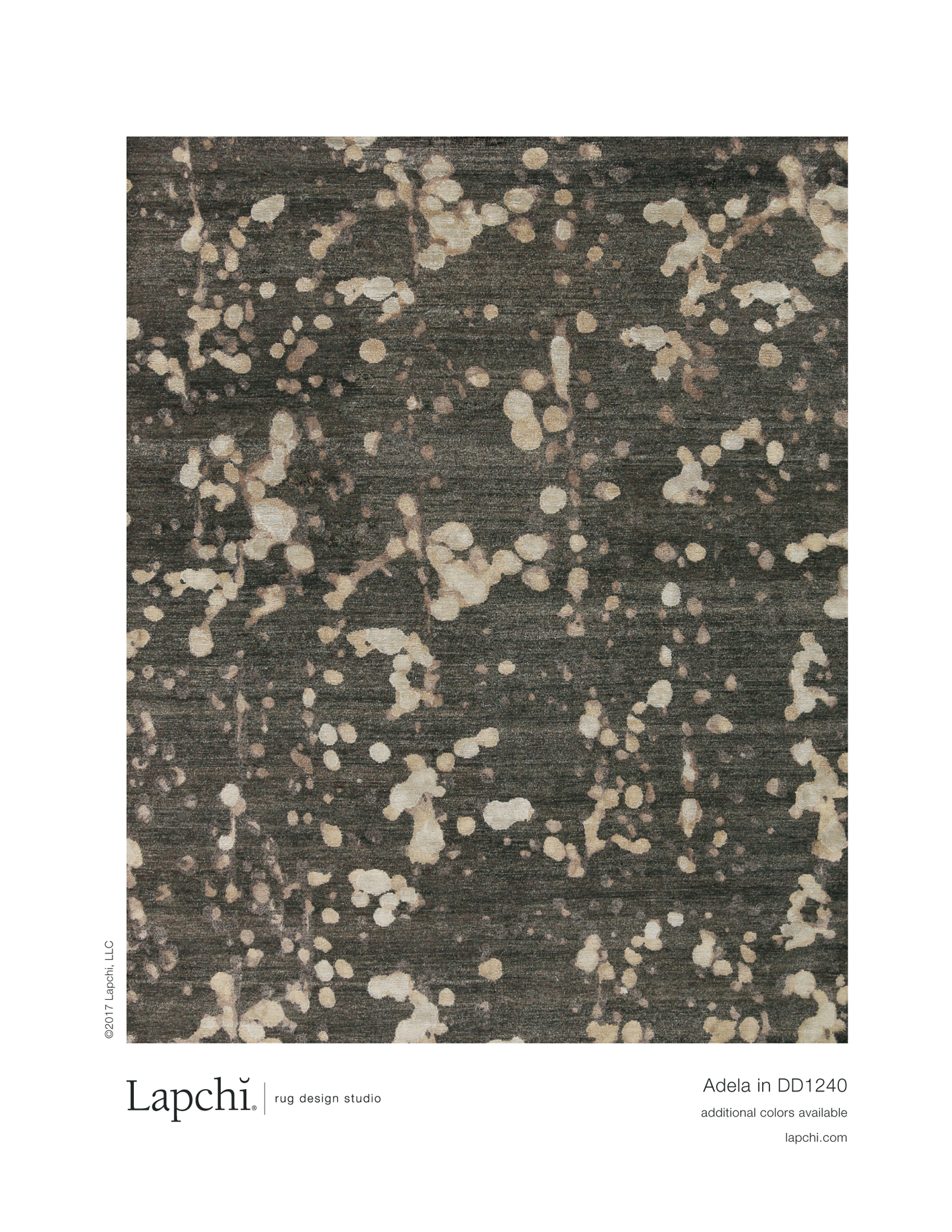 Adela area rug from Lapchi rug design studio.