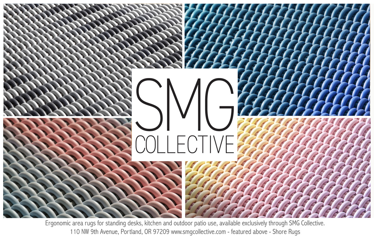 Shore Rugs - Ergonomic area rugs for standing desks, kitchen and outdoor patio use, available exclusively through SMG Collective