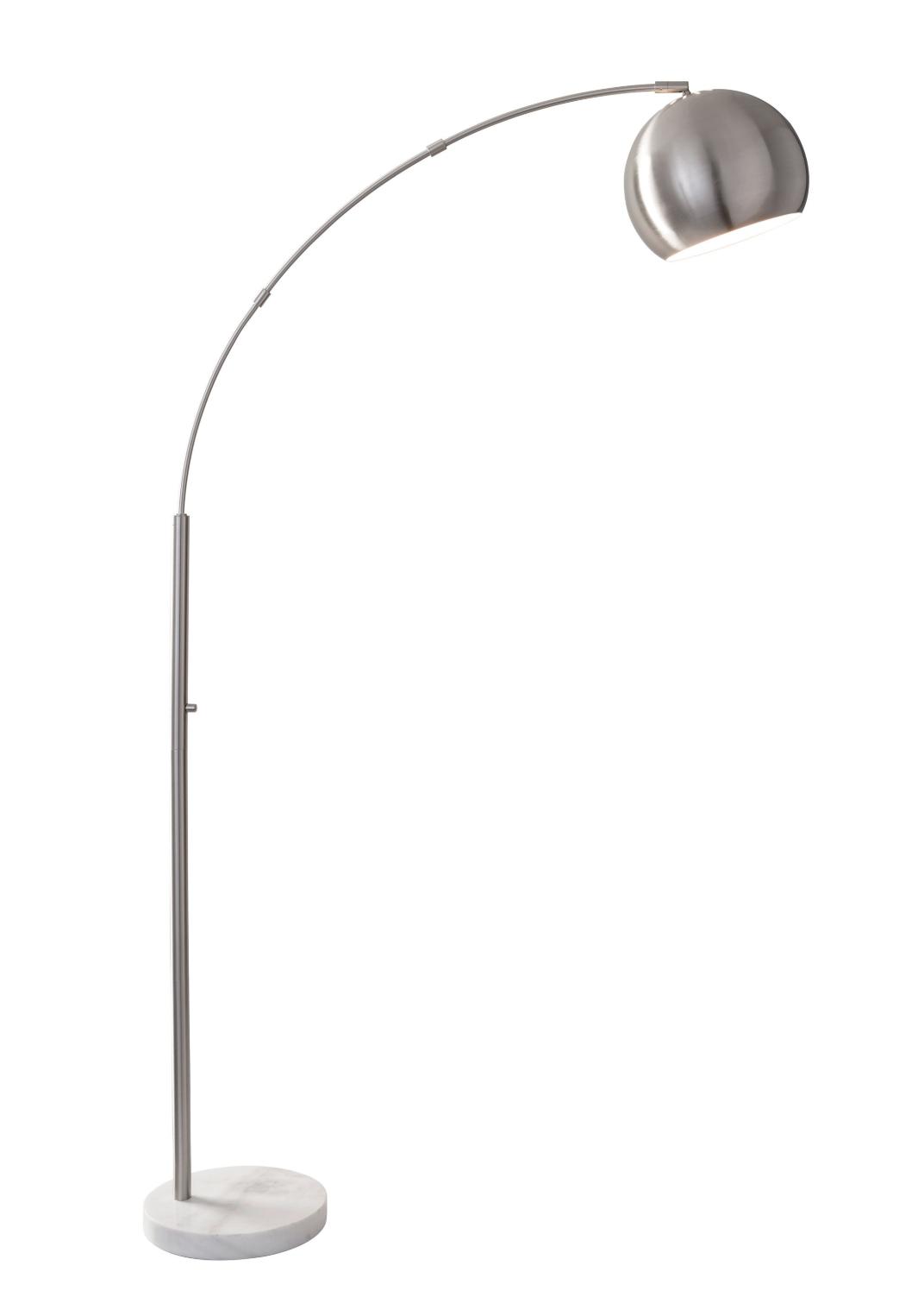 Astoria Arc Lamp Silver