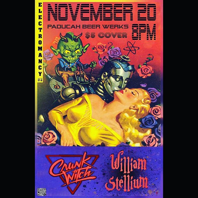 November 20, 2018, join us and @crunkwitch for their bandiversary tour! . . . Doors at 8pm, $5 cover, all ages show