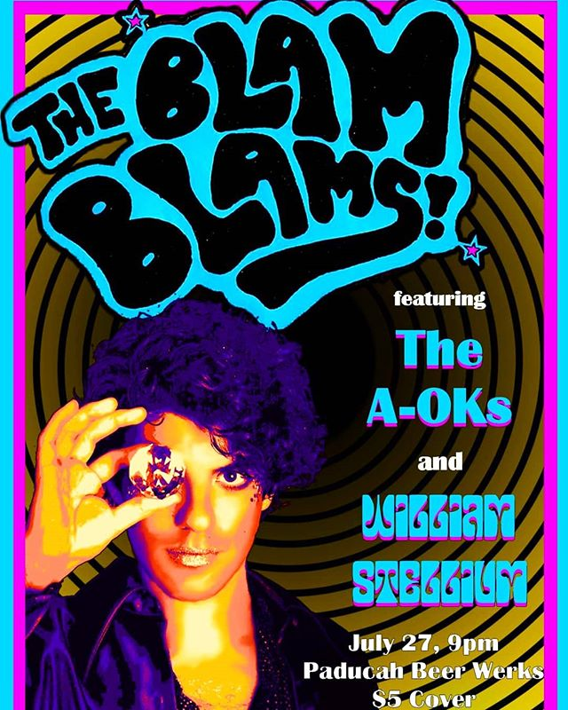 This Saturday with @theblamblams and the @the_aoks at @paducahbeerwerks . Be the friend who knows how cool it was.
