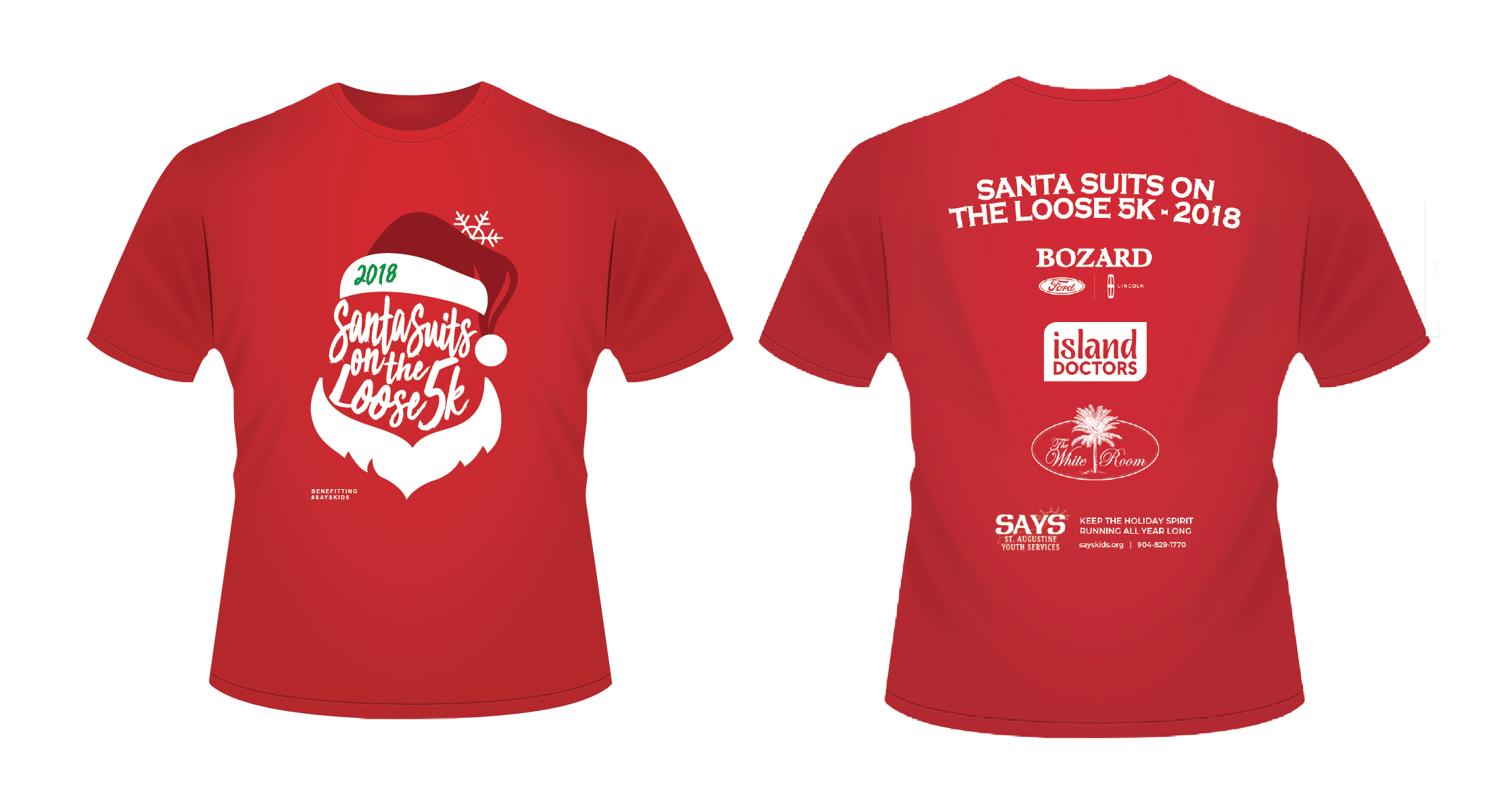 RACE SWAG: All registrants will receive a Santa themed race t-shirt (or Santa Suit). Finishers receive finisher's medals, and the top 3 finishers in each age group receive a customized holiday ornament 'trophy'.
