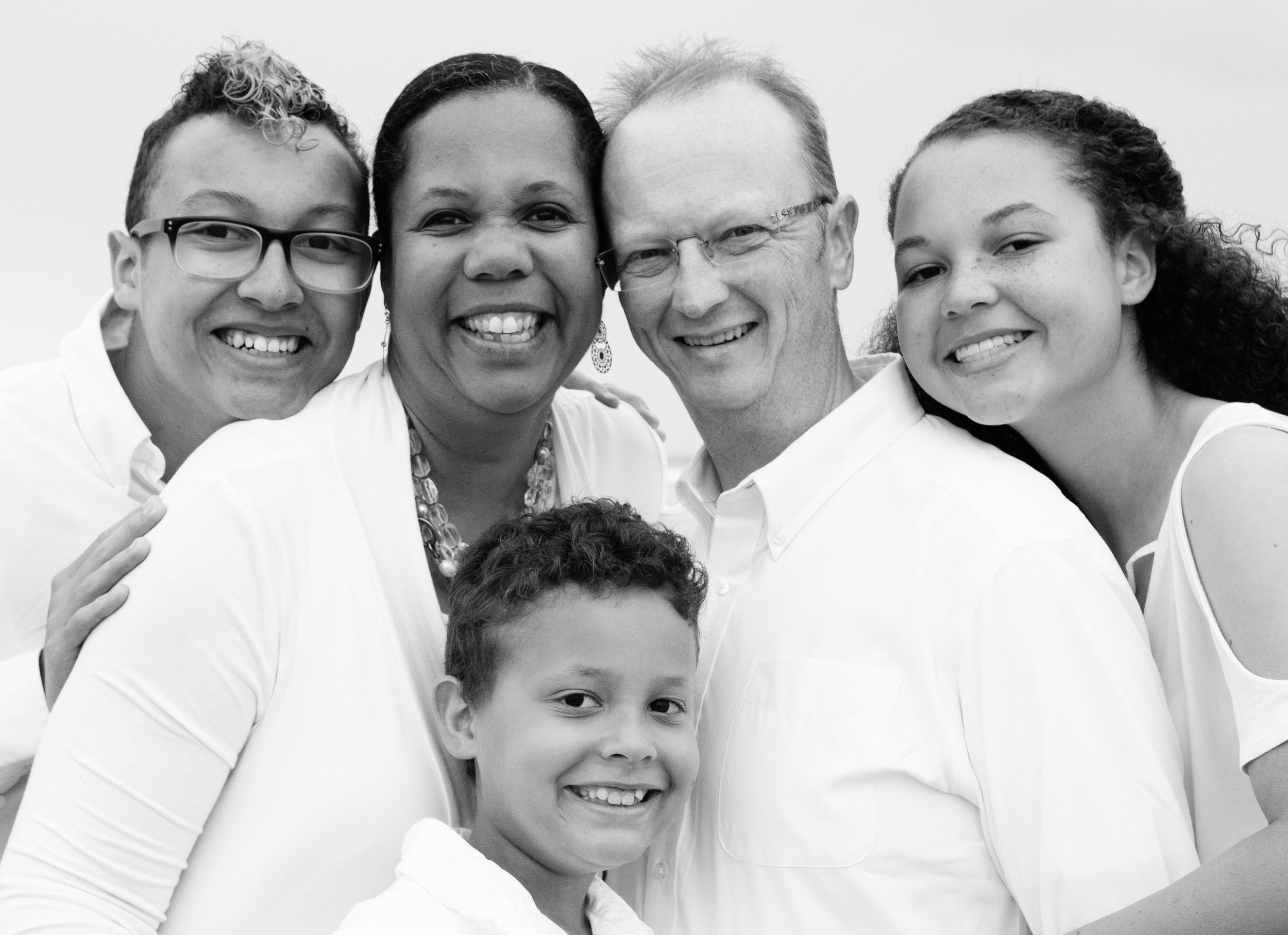 The Malcolms (L to R) Christian, Kimberly, Alexander, David, Sophia
