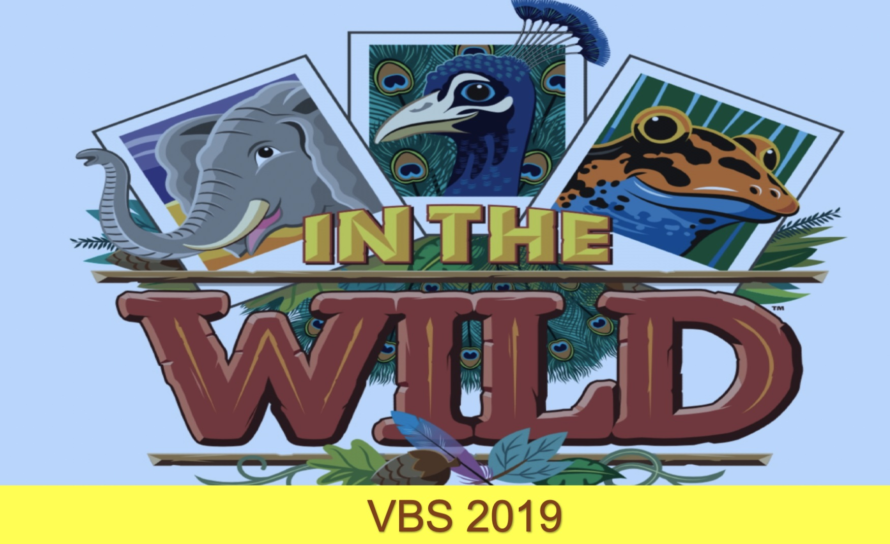 In The Wild VBS 2019 - June 23-26 from 6:30 to 9 pm at North Trident, throw on your camera strap and buckle your seatbelt. VBS 2019 takes you on a wild adventure—with elephants and egrets, polar bears and penguins, cockatoos and crocodiles. As you seek out exotic animals, you'll also find snapshots of real-life encounters with Jesus in Scripture. Kids go from bewildered to believing as they get In The Wild at this summer's VBS.