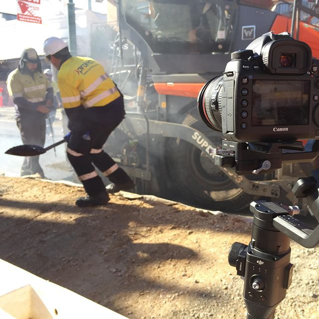KIng William road upgrade being filmed for the City of unley annual wrap up . . . #ronin #canon #5d #dji #videography #video #adelaide #adelaidesmallbusiness #bestjobever #love #work #life #mylife #lovewhatyoudo #killingit