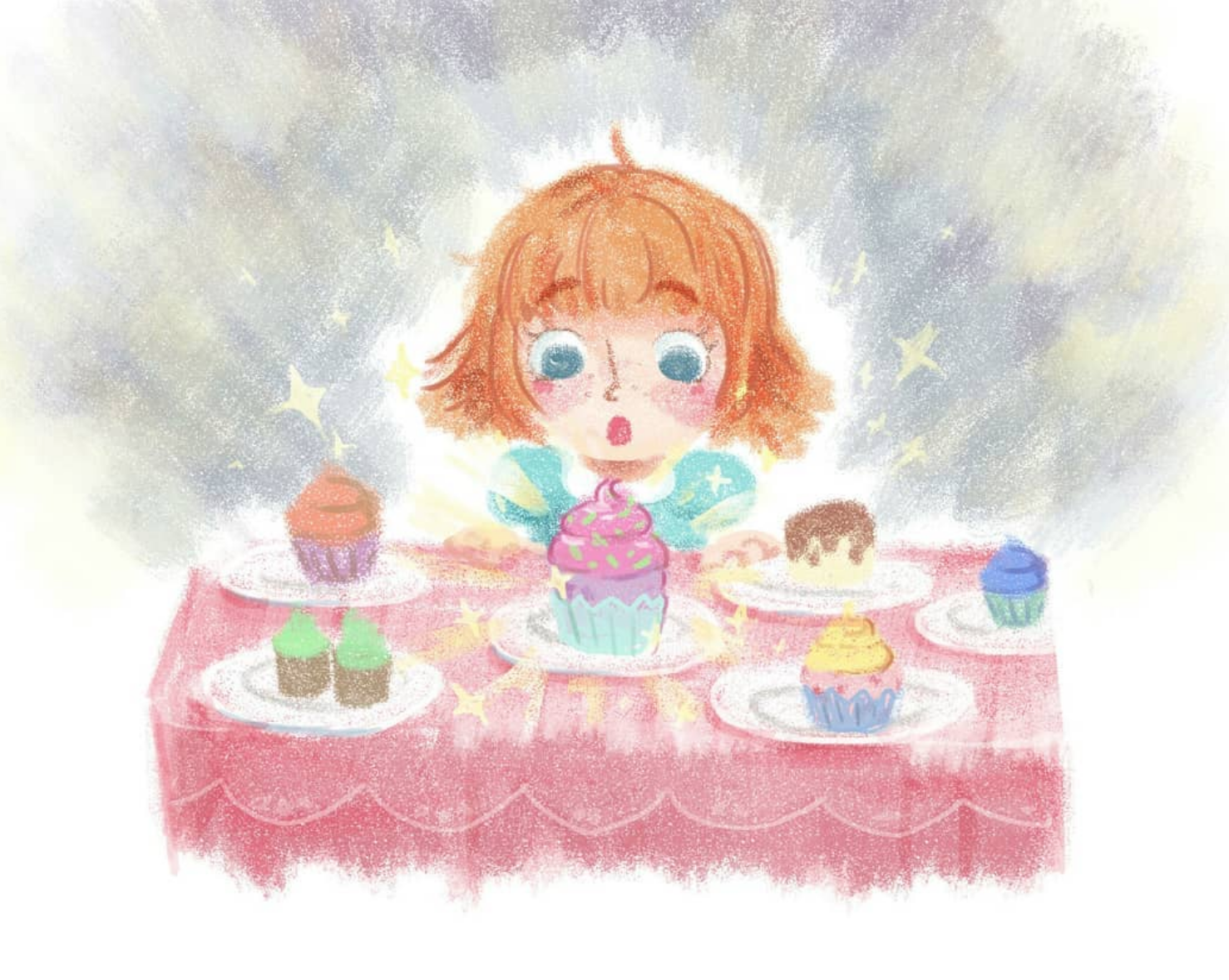 """Page from """"Cupcakes"""" children's book assignment  2017"""