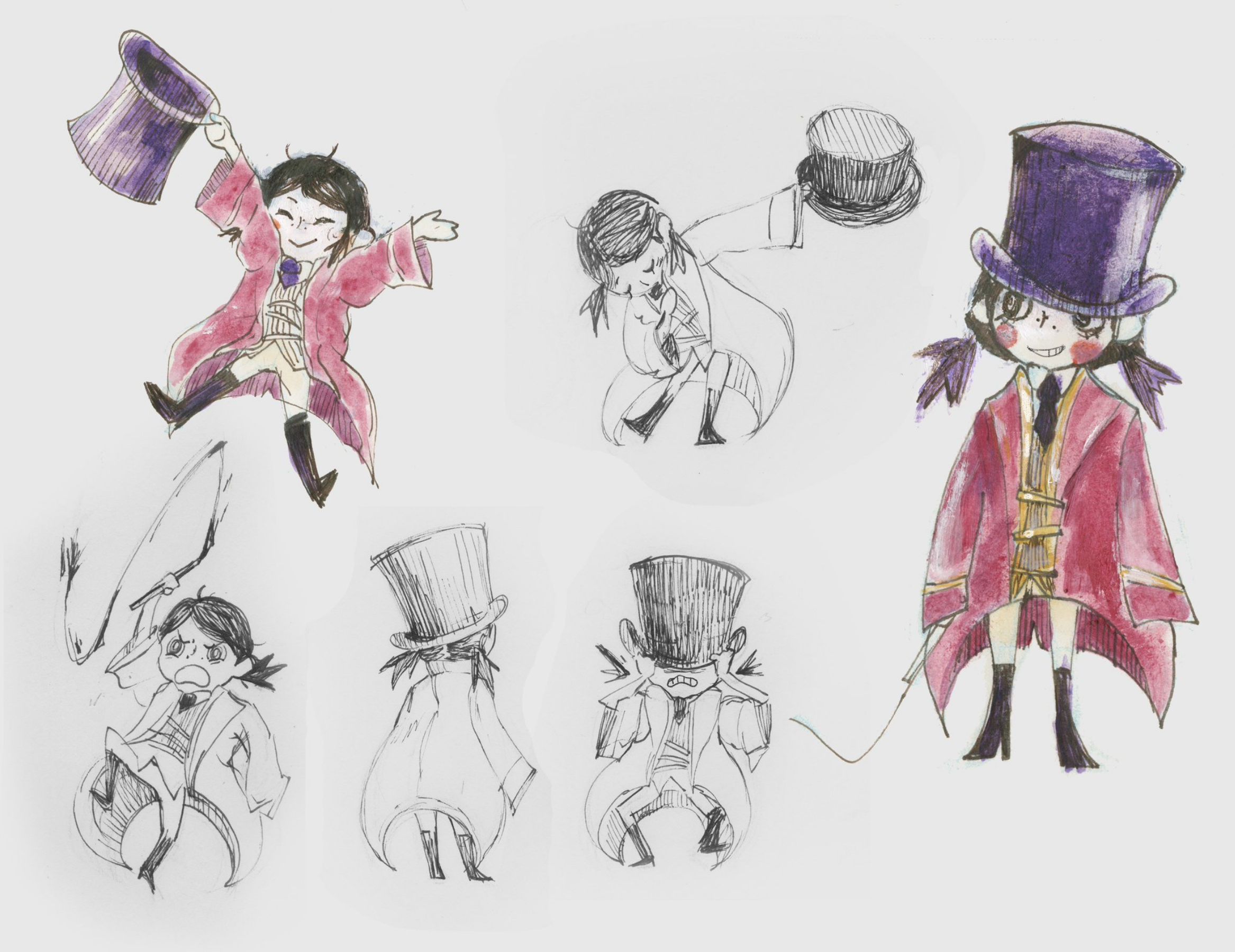 """2D character design concept """"Ringmaster""""  2017"""