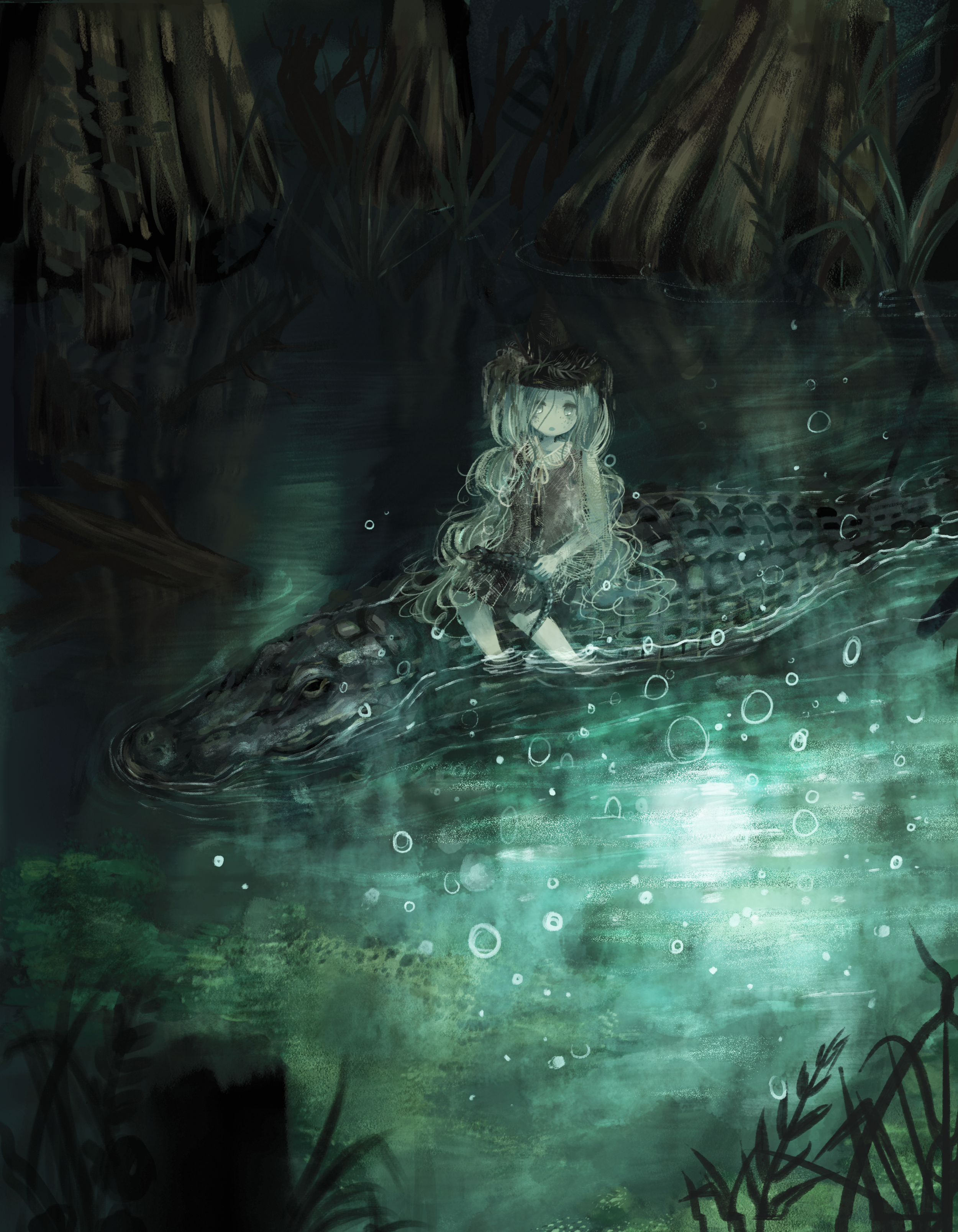 Swamp Witch  Original Illustration for Emerging Artists zine,  The Witching Hour,  2018