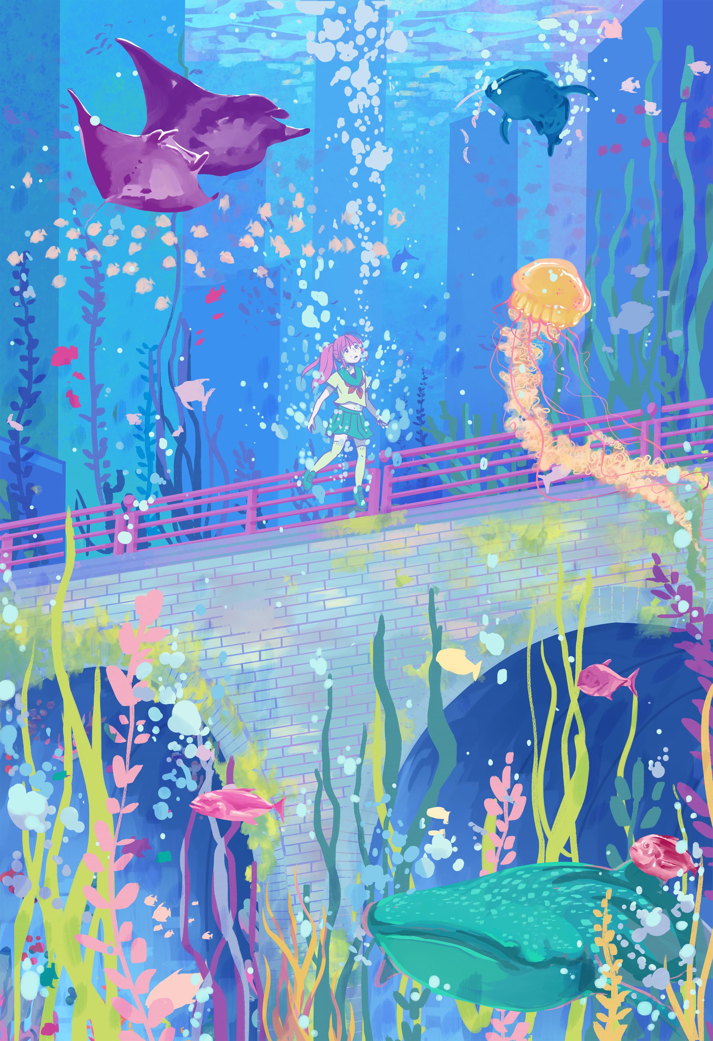 Oceans   Original Illustration 2019.
