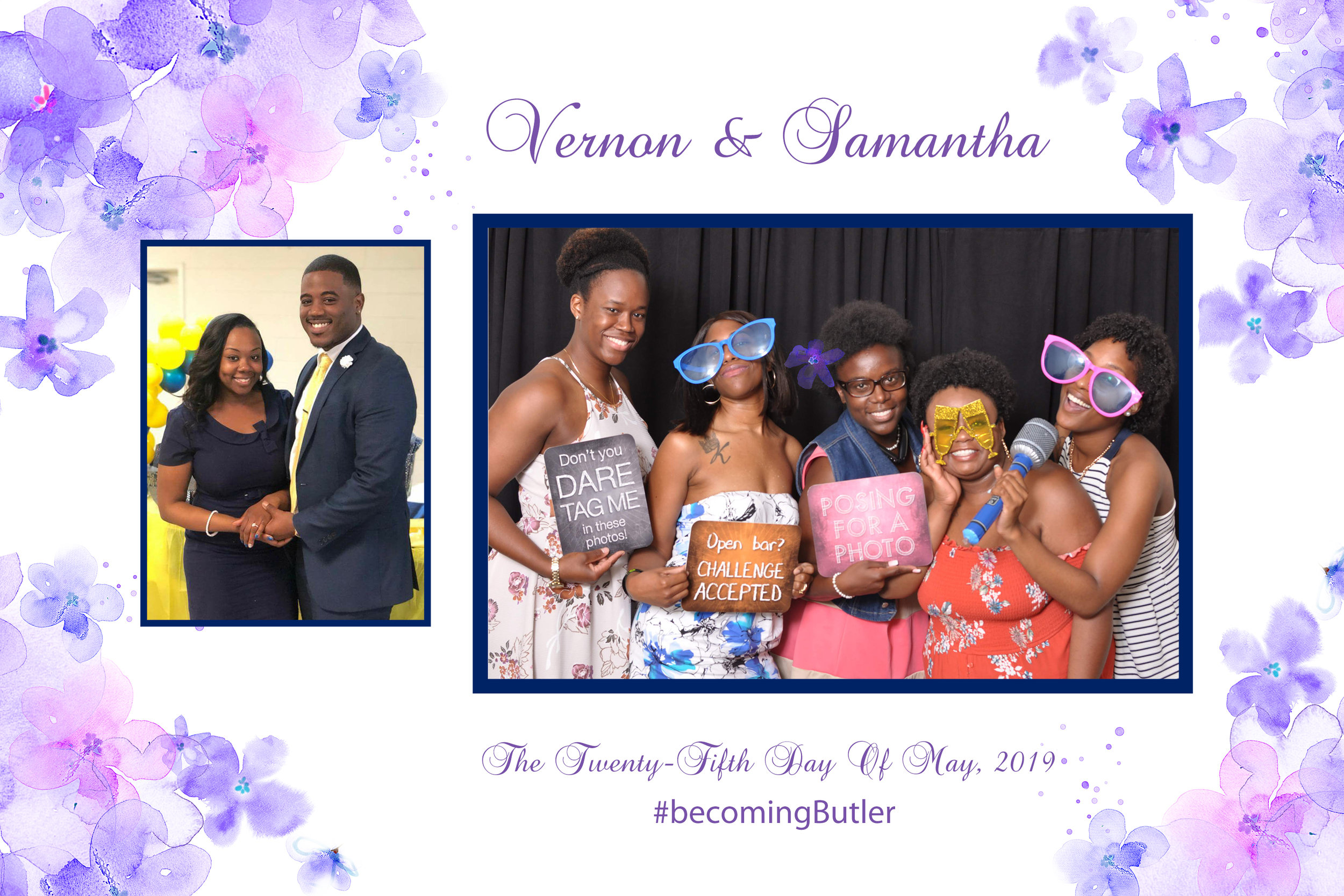 Wedding Purple Flowers