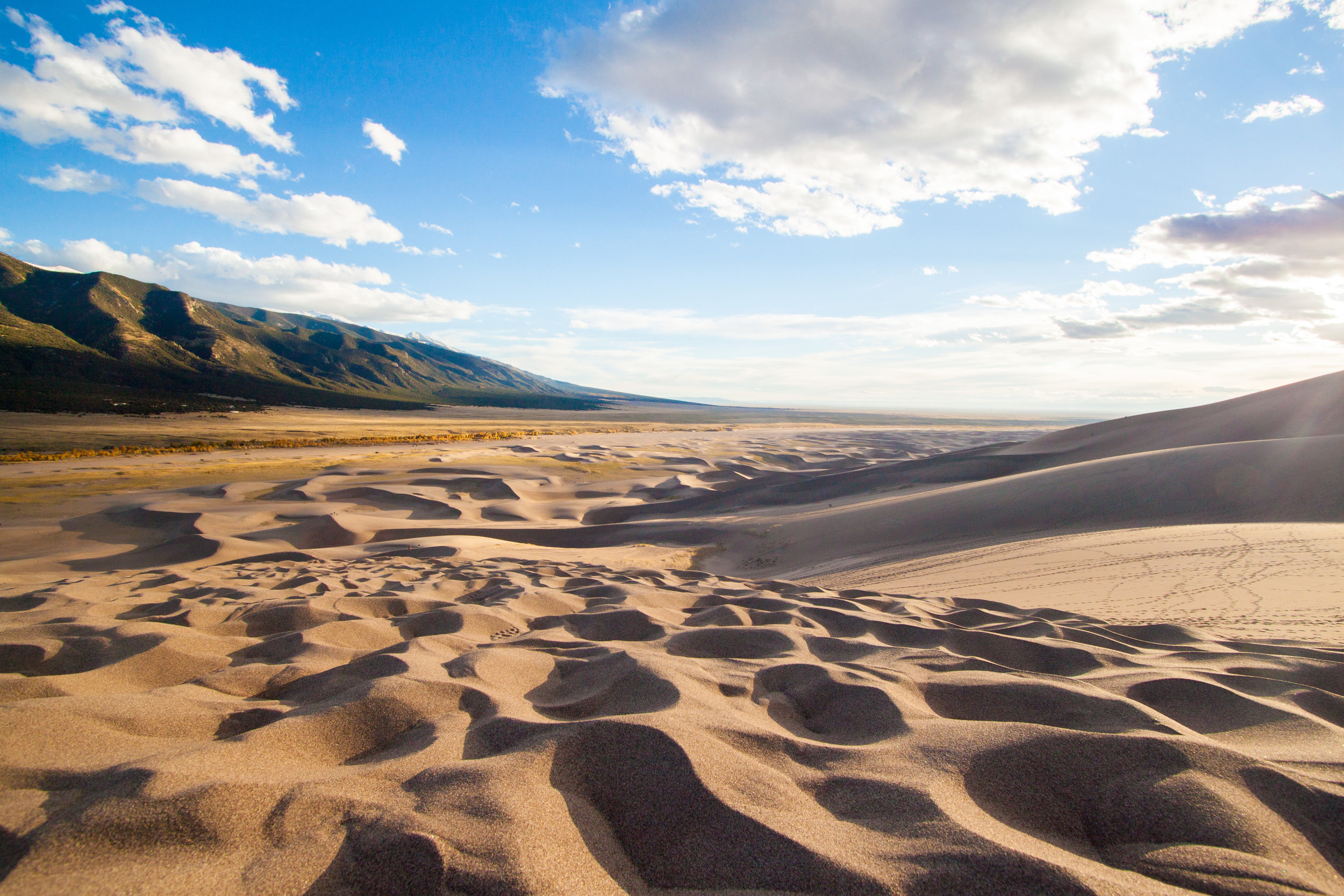 The dunes are continually changing and look different in every light.  Photo by Ben Travis