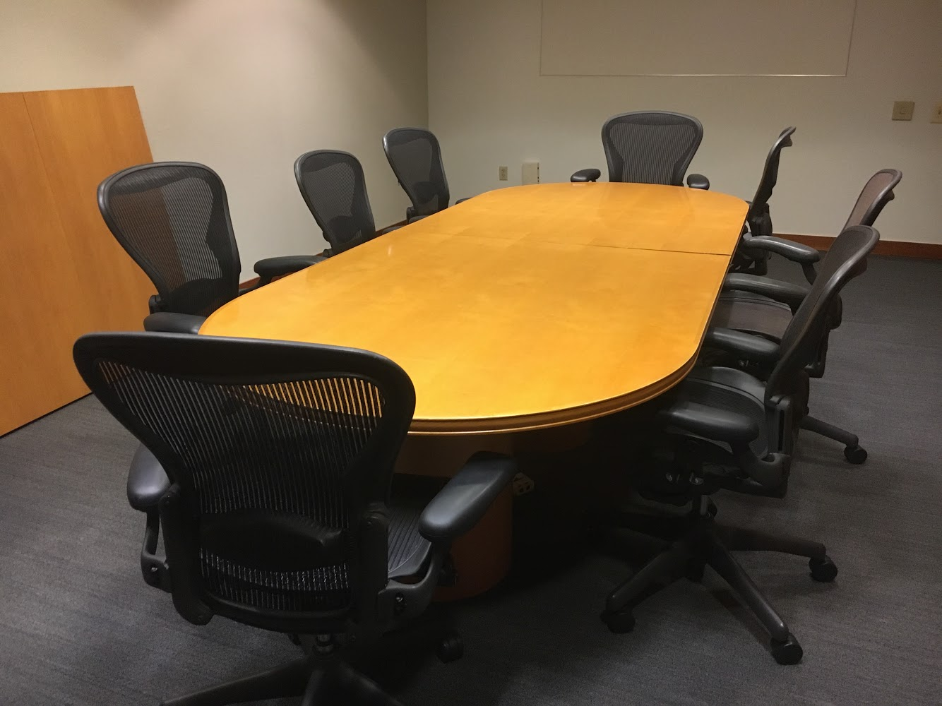 Maple Veneer Racetrack Conference Table