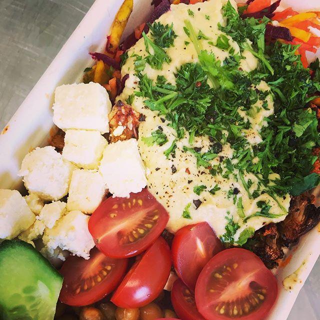 Round 2 this ones a beauty dukkah spiced cauliflower, raw beetroot & carrot, pickled radish, cherry tomatoes, cucumber, @whitestonecheeseco feta, hummus & toasted chick peas 💥 BOOM GF . . . #jaksisland #nelsonshines #cheflife #love #nelsonnz #saladbowl #nourish #nourishbowl #glutenfree #lunch #summer #salad #bossbabe #dailysalads #dinner #breakfast #freshfood #tasty #grabandgo #eatingontherun