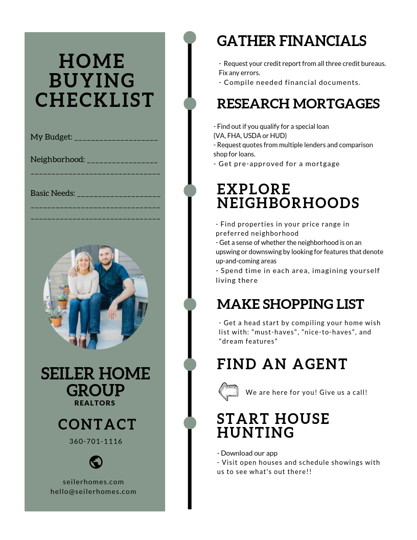 FREE  - Home Buying Checklist