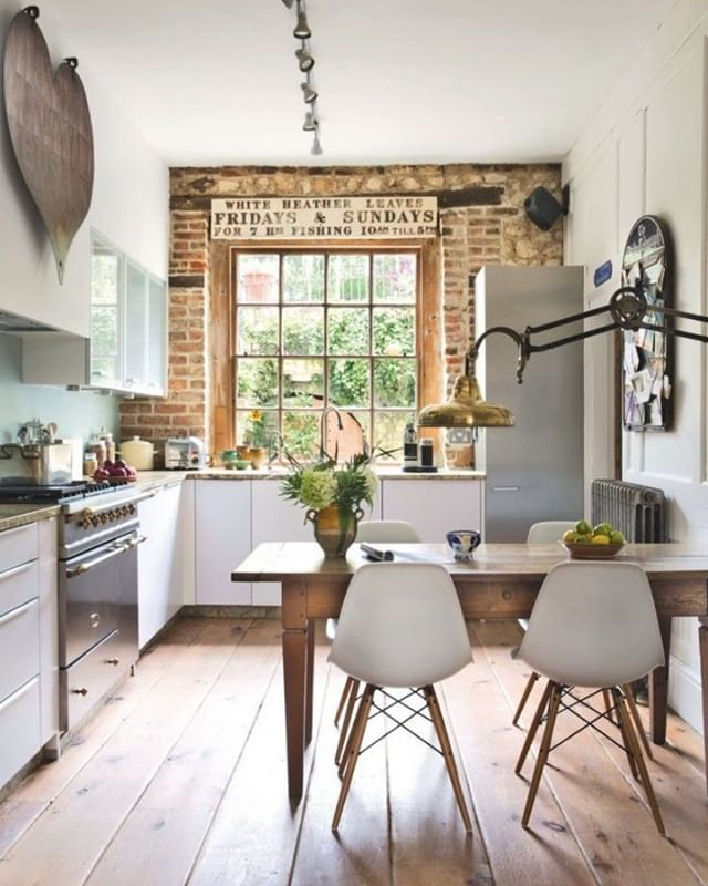 You had me at brick in the kitchen! #kitchengoals!