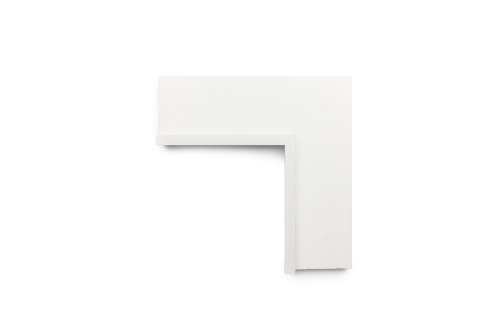 """4 1/2"""" Matte White Flat with Raised Lip This clean profile has enough weight to hold its place in the space while promoting a sense of weightlessness in its execution."""