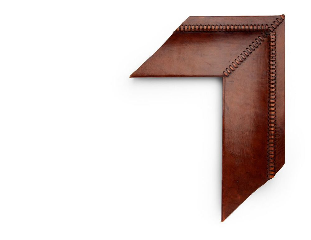 Stitched Tan Cove A 6 inch leather-wrapped frame, this tanned natural leather frame is decorated with matching stitching along the corners and outer cove. There are many finishes and leathers to choose from, and no two are exactly alike.