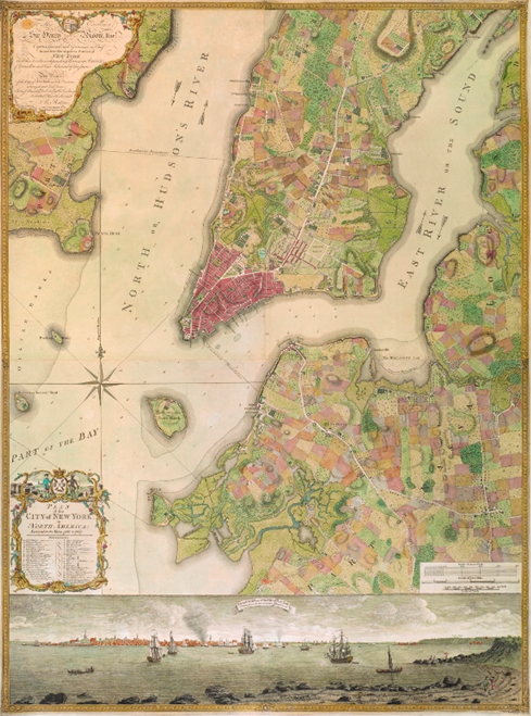 Ratzer Plan New York City 1776